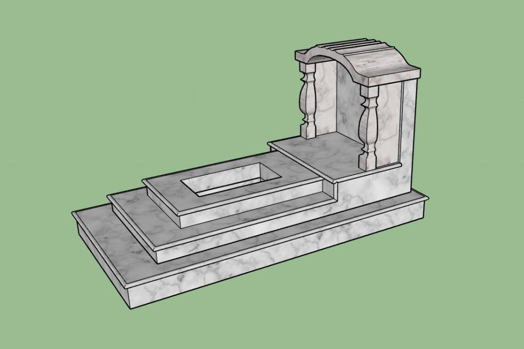 Mẫu mộ ốp đá mái vòm Đời Lý (Ảnh: BĐAV)
