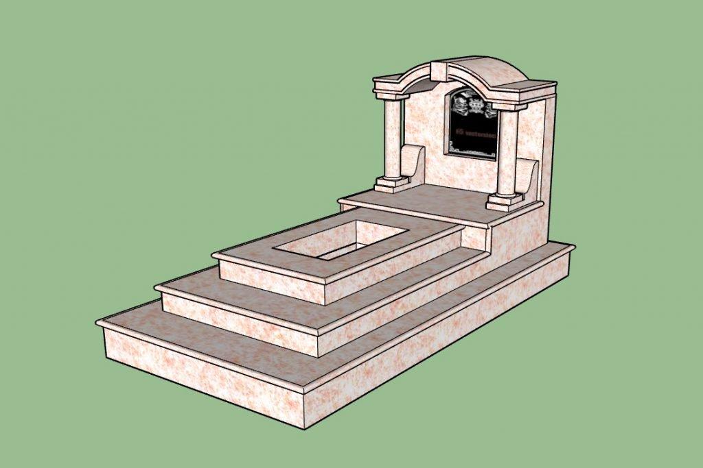 Mẫu mộ Ốp đá mái vòm kiểu Ninh Vân (Ảnh: BĐAV)