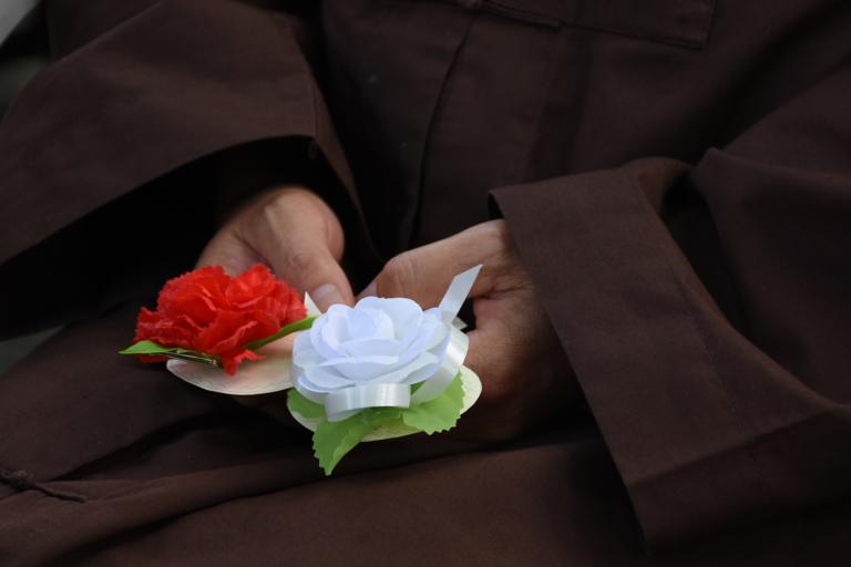 Hoa hồng cài áo ngày Vu Lan báo hiếu (Ảnh: sưu tầm)