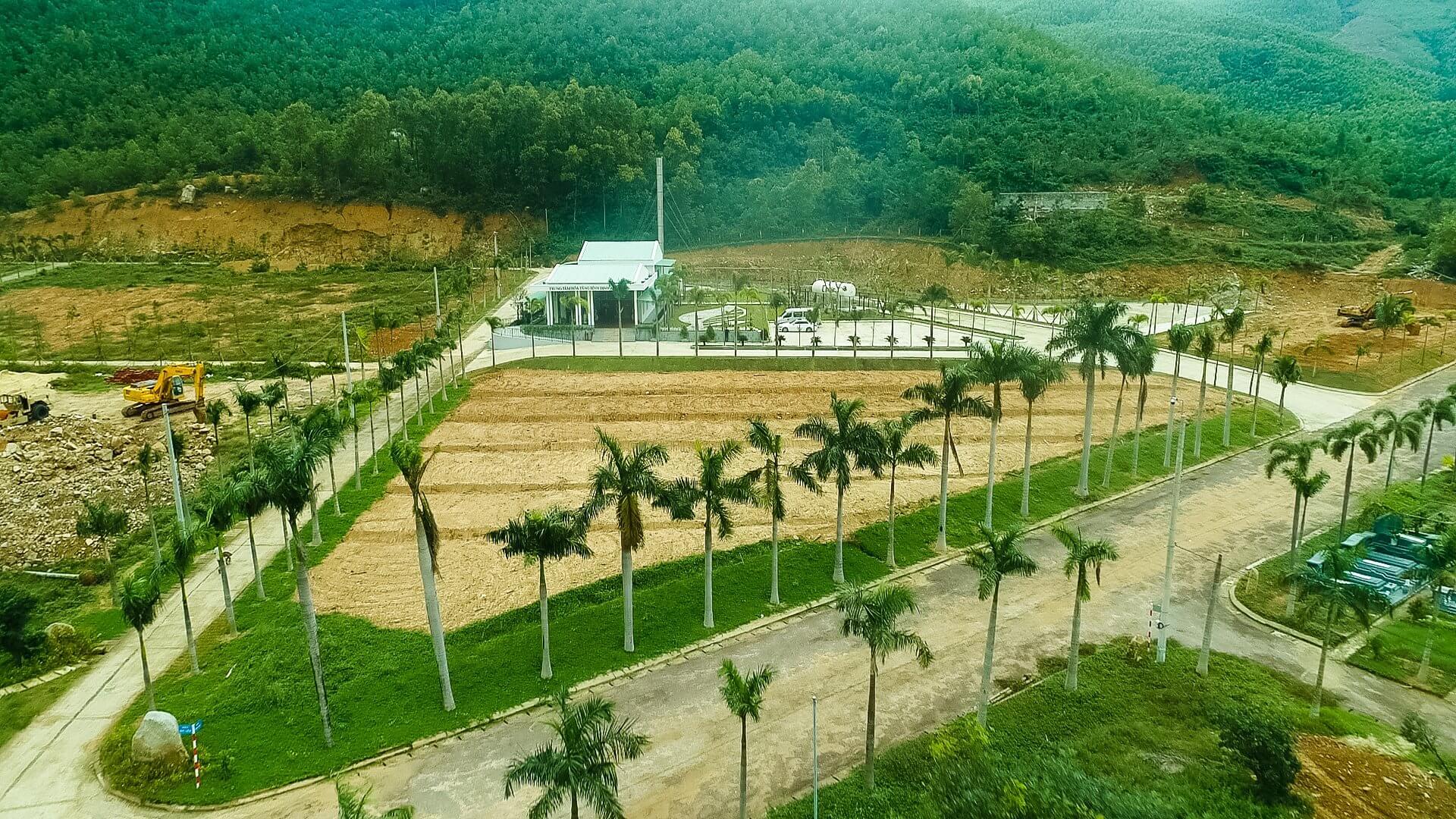 Toàn cảnh Trung tâm hỏa táng Bình Định An Viên nhìn từ trên cao